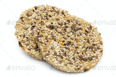 Nature gourment biscuits with sea salt and sesam seeds.