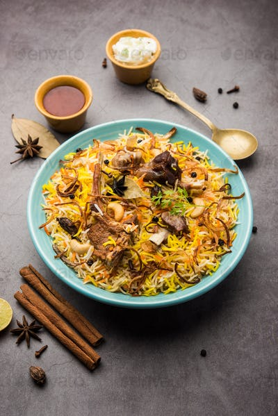 Gosht Pulao Or Mutton Biryani - Popular Indian Non vegetarian food