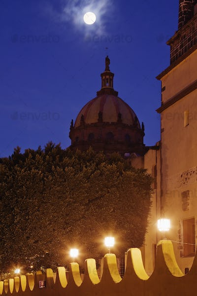 Monastery of Las Monjas with Full Moon