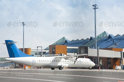 Transport Plane at the Airport