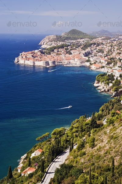 Coastal View of the Old Town of Dubrovnik