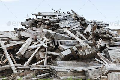 Pile of Wood Debris