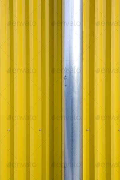 Pipe and Corrugated Metal Wall