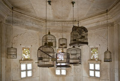 Empty Bird Cages in the City Palace