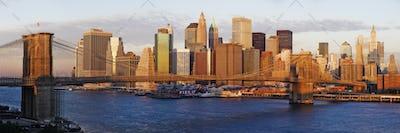 Lower Manhattan and the Brooklyn Bridge