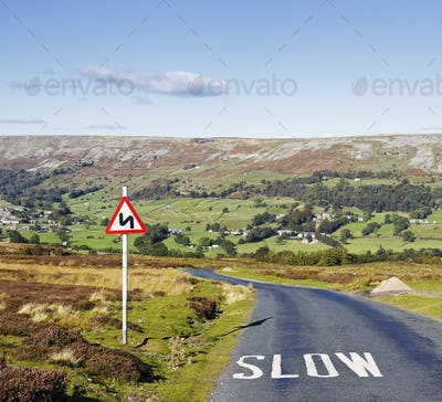 Country Road with Sign