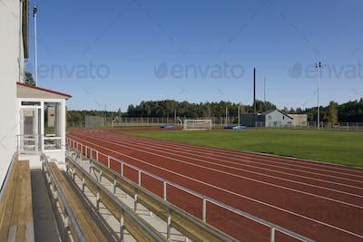 Bleachers at a Running Track
