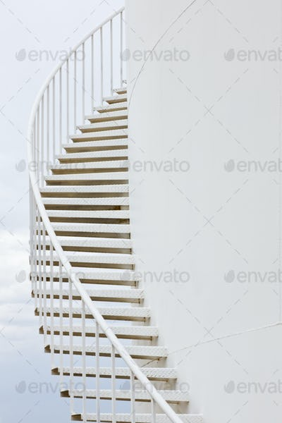 Stairs on a Water Storage Tank