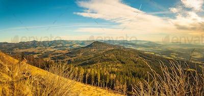 View from Shockl mountain in Graz. Tourist spot in Graz Styria.