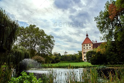View at Eggenberg palace tourist spot, famous travel destination in Styria.