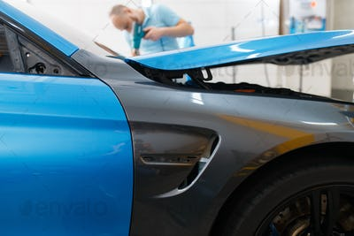 Car wrapping, protective foil or film coating