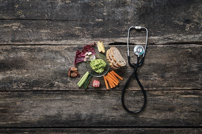 Conceptual image of healthy eating as care of ones health