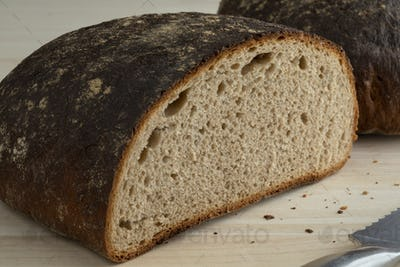 Loaf of healthy German Sourdough bread