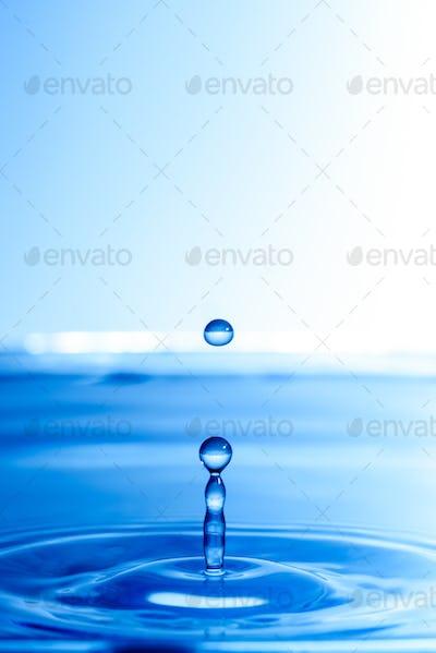 Water drop fall into water
