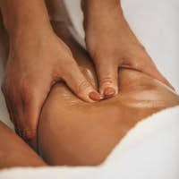 Anti Cellulite Massage of a Thigh