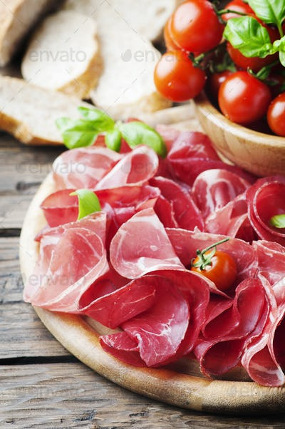 Italian Delicious Antipasto with ham and bresaola