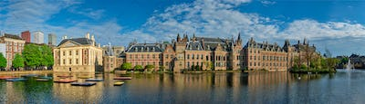 Hofvijver lake and Binnenhof , The Hague