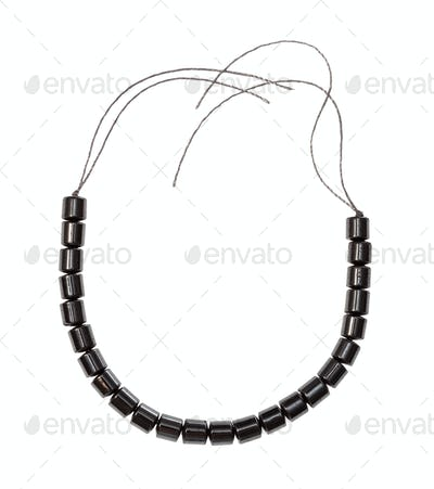 beads from natural polished hematite isolated
