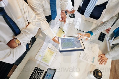 Business people discussing marketing plan