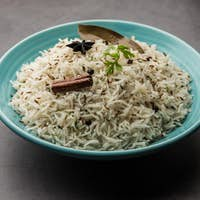 Jeera Rice - Basmati rice flavored with fried cumin seeds and basic spices, Indian food