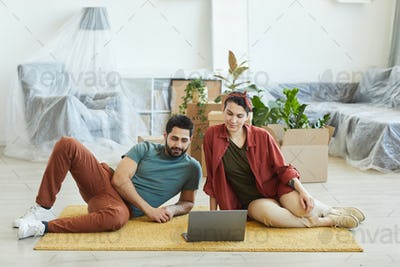 Couple sitting at home