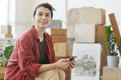 Woman waiting for loaders