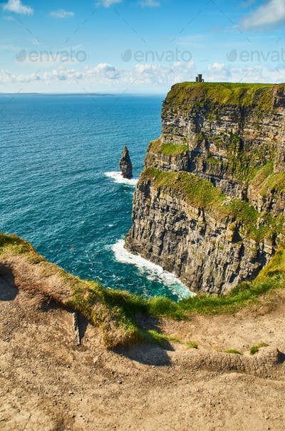 View at O'Brien's Tower at Cliffs of Moher