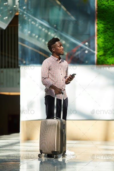 Business man travelling