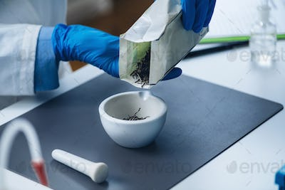 Quality Control of Herbal Tea, Test for Presence of Pesticides