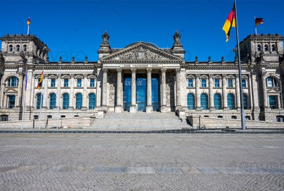 Front view of the famous german Reichstag