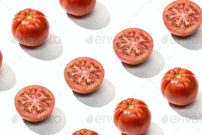 Fresh red tomato pattern