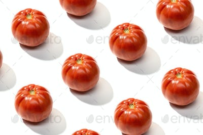 Fresh red tomato pattern isolated