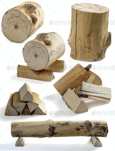 stump and firewood