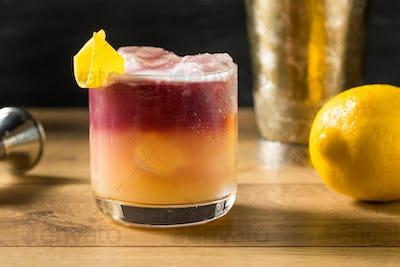 Homemade New York Sour Cocktail