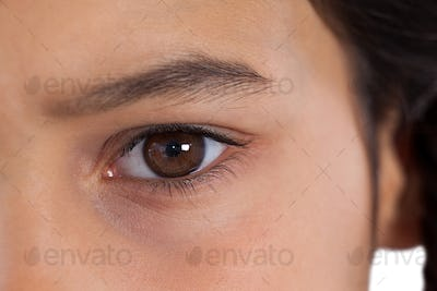Girls eyes with eyebrows