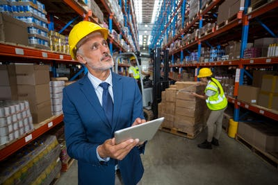 Warehouse manager using digital tablet