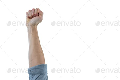 Close-up of clenched fist of a man