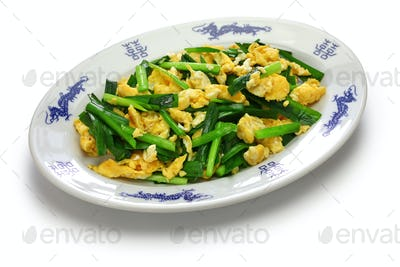 chinese chives and eggs stir fry