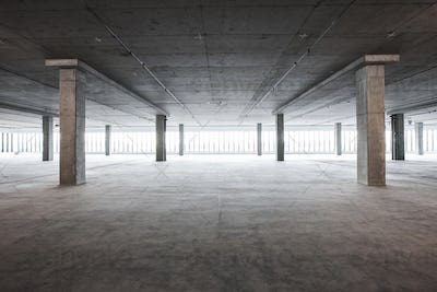 An empty raw business space ready for occupancy.