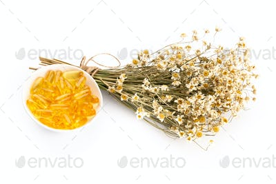 Natural chamomile handmade soap.