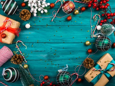 Christmas traditional dark green background