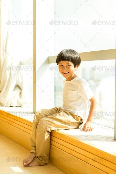 Portrait of cute Asian little boy