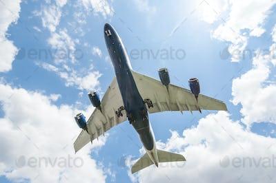 large passenger jet landing