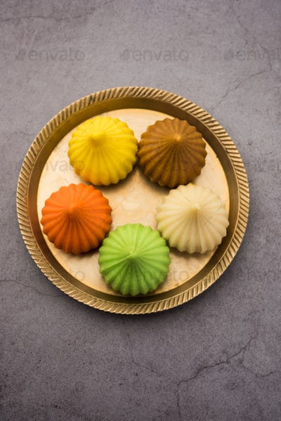 Modak is an Indian sweet popular in states of Maharashtra, Goa & in the regions of Konkan in India