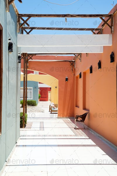 Architectural perspective patio in the street