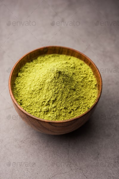 Herbal Mehandi or Henna powder used for Tattoo or as a Hair Dye in India