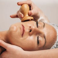 Face Massage with Madero Therapy Wooden Massager