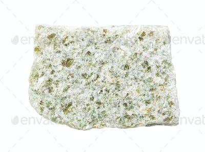 unpolished quartz-muscovite slate rock isolated