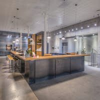 54888,Reception area in modern office building