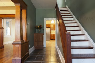 53997,Stairs and corridor in new house